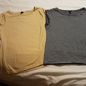 2 cute stripes tops